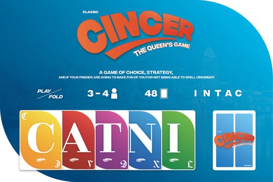 Cincer, a card game of choice, strategy and if your friends are going to make fun o f you for not being able to spell 'Cincinnati.'