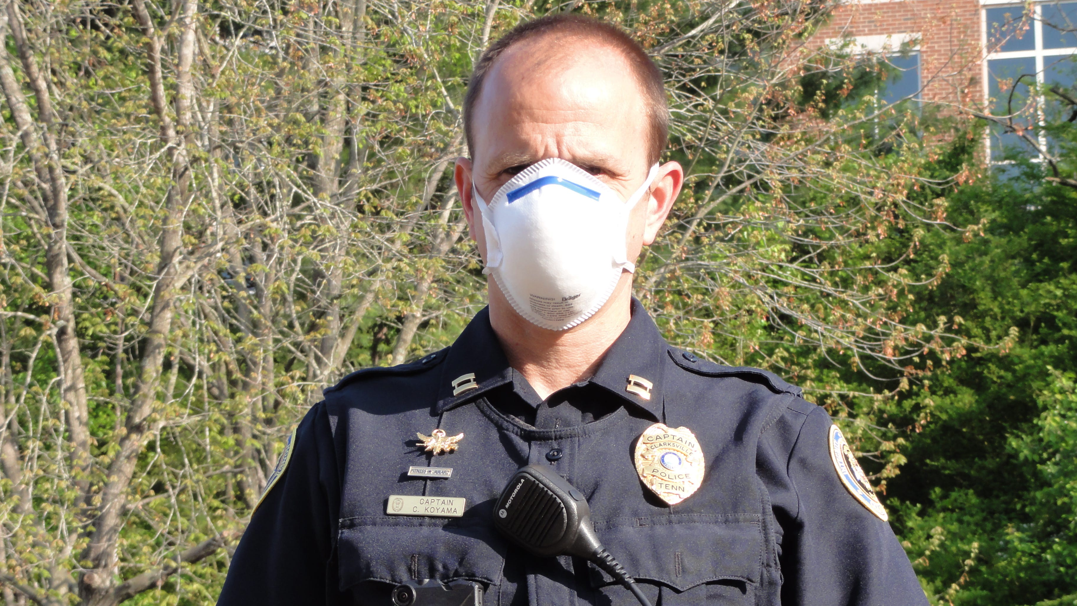 Clarksville first responders wearing face masks during coronavirus