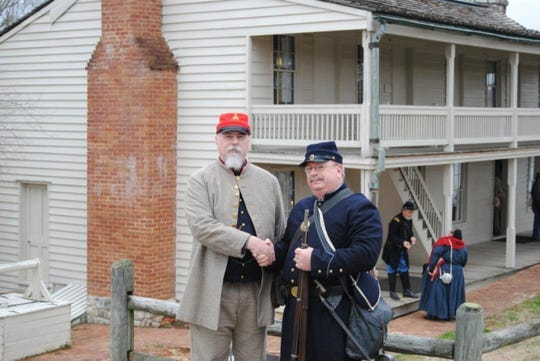 Bill and Randy Rubel, dressed as Civil War re-enactors. On Friday, April 3, 2020, Bill Rubel became the first reported Montgomery County death due to the coronavirus.