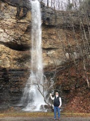 Bill Rubel, shown standing by a waterfall, in an undated photo before he became the first reported Montgomery County death due to the coronavirus.