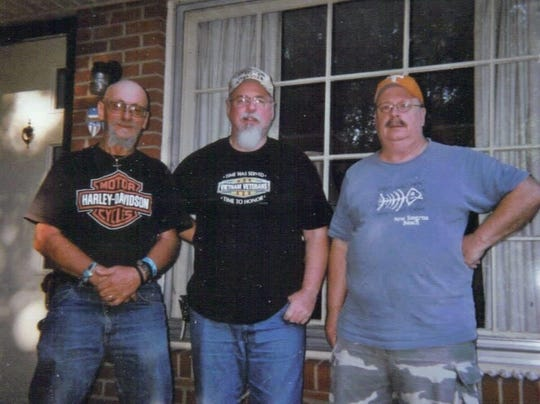 Bill Rubel, center, in an undated photo with his brothers Randy and Tom. On Friday, April 3, 2020, Bill Rubel became the first reported Montgomery County death due to the coronavirus.