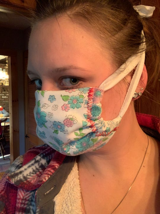 Gabriela Spata and Jana Spellman of Hillsborough are a granddaughter and grandmother team who took to making masks for their community three weeks ago.Masks are free to whomever needs.