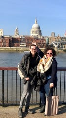 Lauren Rice and her friend Austin Zepeda toured London during a previous teaching term.
