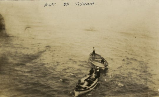 Crew members from the RMS Oceanic recovered Gunnar Tenglin's initial lifeboat, Collapsible A, about a month after the disaster.