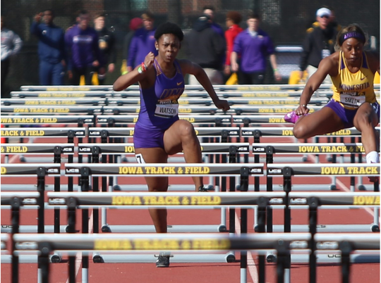 Jamaican hurdler Patrice Watson is one of six international athletes on Northern Iowa's track and field 2019-20 roster.