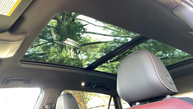 The 2020 VW Atlas Cross Sport's panoramic sunroof.