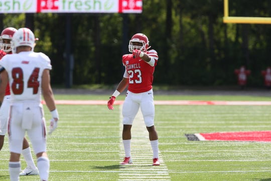 Cornell safety Jelani Taylor plays against Sacred Heart on Sept., 29, 2018, in Ithaca, New York.
