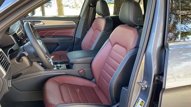 The 202 VW Atlas Cross Sport's front seat.