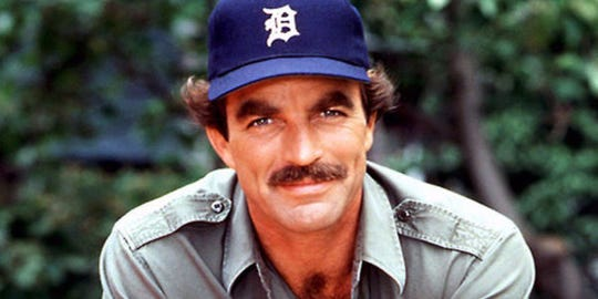 """Tom Selleck popularized the Tigers cap on """"Magnum, P.I."""""""