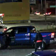 The driver's blue Dodge pickup was caught on a surveillance camera.