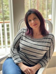 Jennifer Hood, 43, of Traverse City, has Crohn's disease and is quarantined at her home.