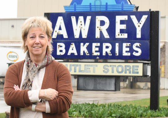 Diane Lynch, Vice President at Minnie Marie Bakers, Inc dba Awrey Bakery in Livonia, Michigan on April 7, 2020.