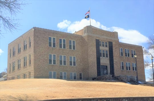 The Toole County courthouse in Shelby.