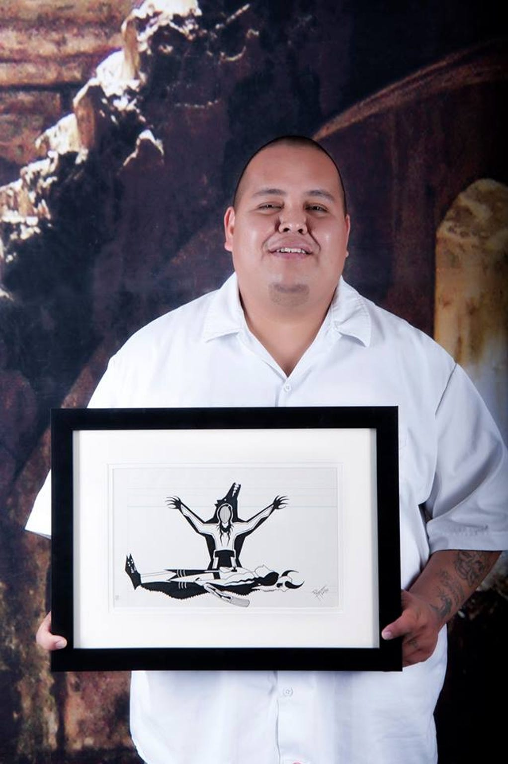 John Pepion, an artist and Blackfeet tribal member, said he made more than 60 art pieces for the Out West Art Show, which occurs during Western Art Week in Great Falls.