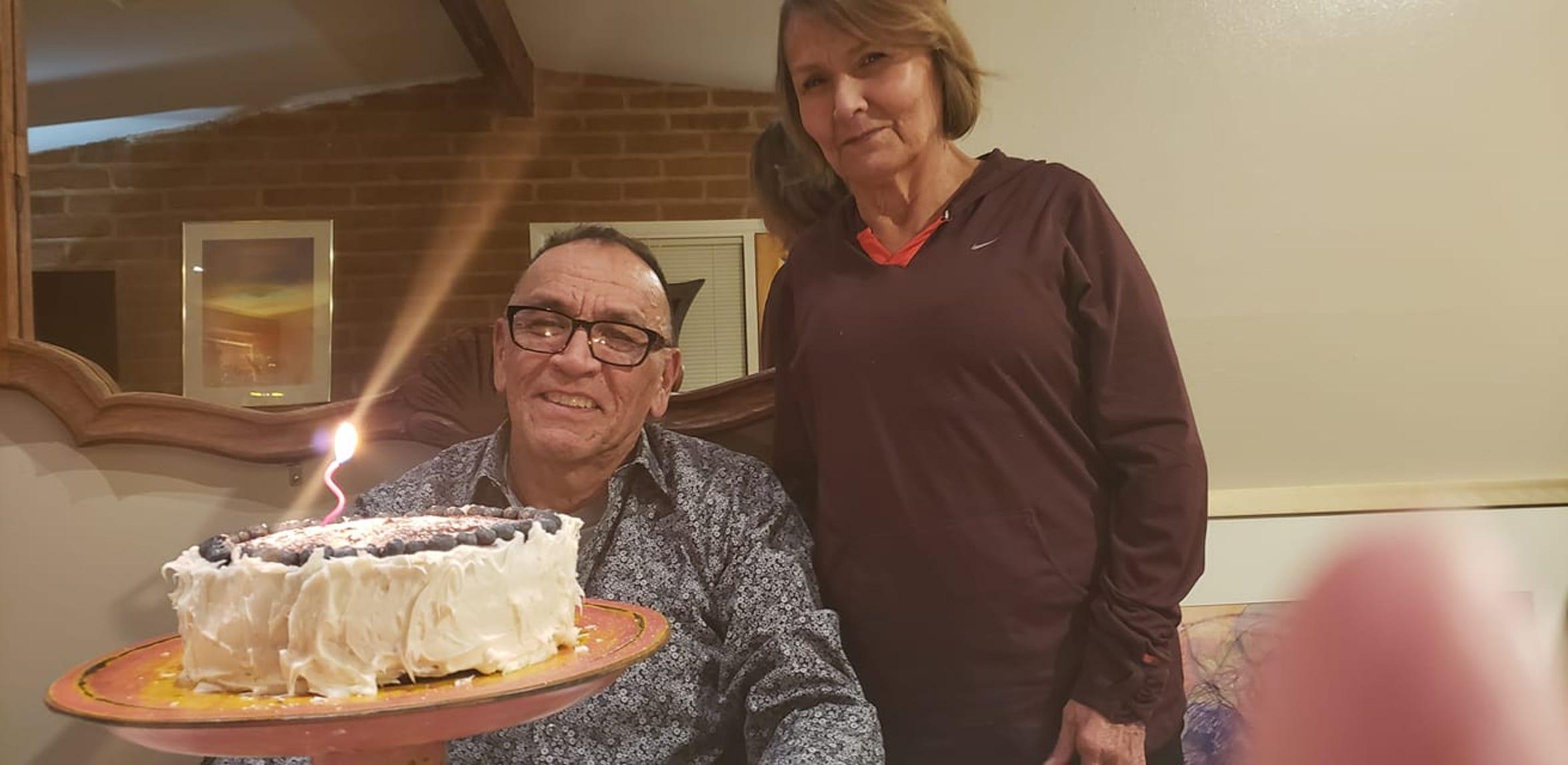 John Bird, a member of the Blackfeet Nation, lives in Tucson, Arizona with his sister, Barbara. He fears the coronavirus will hurt the Blackfeet Nation as it has the Navajo.