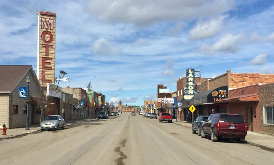 Main Street in Shelby about 11:20 a.m. April 6, 2020, during the stay-at-home directive during the coronavirus.