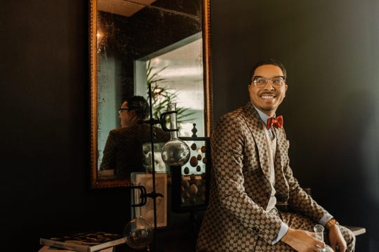 Kyris Brown, the owner of Kyris Kustoms, specializes in opulent custom menswear.