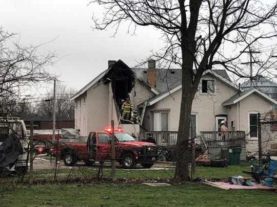 Firefighters responded to a house fire Tuesday morning, April 7, 2020 just after 8 a.m. on North Cochran Avenue in Charlotte.