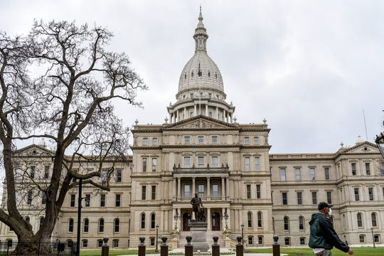 The Michigan State Capitol photographed on Tuesday, April 7, 2020, in Lansing.