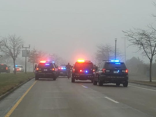 Officers in Marshfield are at the scene of a crash that has closed part of Veterans Parkway.