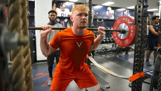 Shelby grad Brennan Armstrong, the projected starting quarterback at Virginia, keeps himself in top physical condition