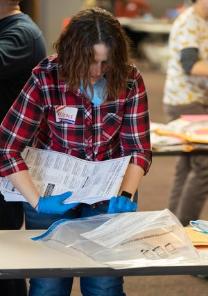 City of Milwaukee Election Commission workers process absentee ballots during the primary election on April 7. Clerks across the state have asked the Legislature for years to give them the ability to count at least some ballots prior to Election Day.