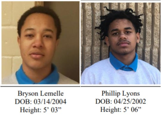 Bryson Lemelle and Phillip Lyons have identified as the Swanson escapees.