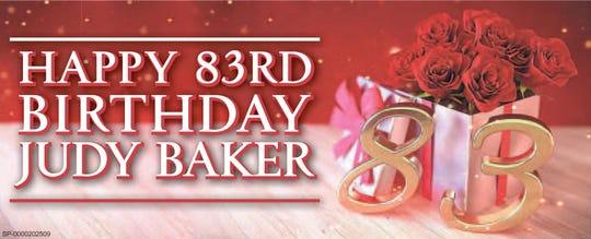 Happy 83rd Birthday Judy Baker