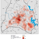 The Nashville COVID-19 heatmap represents the total number of confirmed COVID-19 cases that have been reported to the Metro Public Health Department. The darker red color on the map indicates areas with higher numbers of cases. This data is current through April 6, 2020.