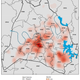 Heat map of COVID-19 cases in Davidson County.