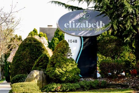 The exterior of Elizabeth Nursing and Rehabilitation Center in Elizabeth, NJ on Tuesday April 07, 2020.