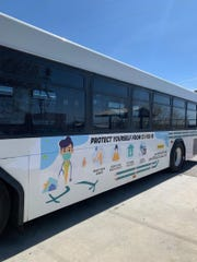 RoadRUNNER Transit announced it has installed banners toencourage riders to protect themselves from COVID-19.