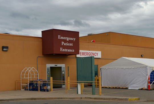 Courtesy photo of the screening tent for COVID-19 patients set up outside of the Gerald Champion Regional Medical Center emergency department.