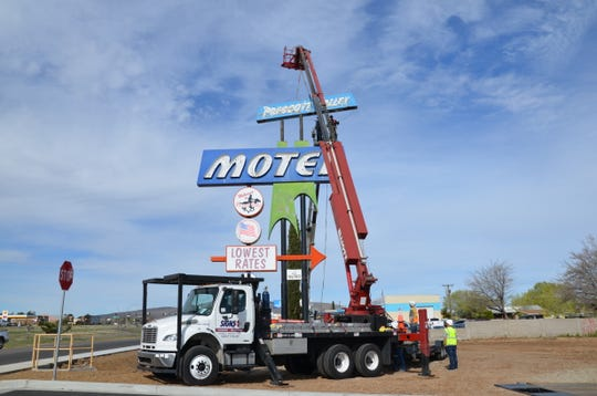 The Prescott Valley Motel sign, one of the town's most recognizable features, was taken down after around 50 years on April 1, 2020 and now awaits anew home. Several sign enthusiasts chipped in thousands of dollars to cover the cost of the work.