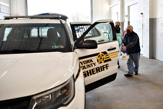 Bailey Coach offers to disinfect York County police cars, firetrucks and ambulances for free in Jackson Township, Tuesday, April 7, 2020. Dawn J. Sagert photo