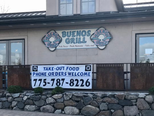 Buenos Grill in West Reno announces its takeout service being offered during the coronavirus shutdown.