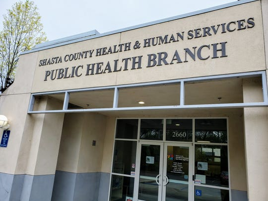 The Shasta County Health and Human Services Public Health branch on Sunday, April 5, 2020.