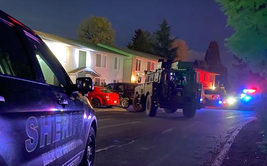 A man barricaded himself in an apartment on Silvercedar Place NE Monday, April 7.