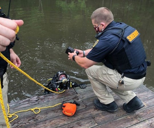 Diverssearched a private pond for evidence and reportedly found evidence linked to Swanson, the Caddo Parish Sheriff's Office.