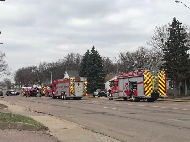 Crews responded to a report of a structure fire around 1:30 p.m. on Monday on the 1100 block of North Minnesota Avenue.