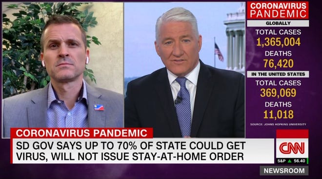 Sioux Falls mayor Paul TenHaken was on CNN Tuesday morning to discuss the city and state's response to the coronavirus.