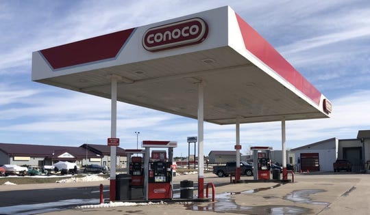 Not a single customer was in sight at the gas pumps at this station in Summerset, S.D., on a warm Saturday afternoon in early April. Low demand for gas amid the COVID-19 pandemic has caused ethanol prices to fall to record levels.