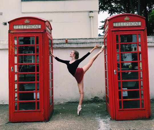 Hannah Bottarel, a ballerina, while studying in London.