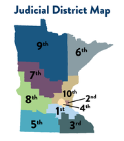 The Seventh Judicial District encompasses Becker, Benton, Clay, Douglas, Mille Lacs, Morrison, Otter Tail, Stearns, Todd and Wadena counties.