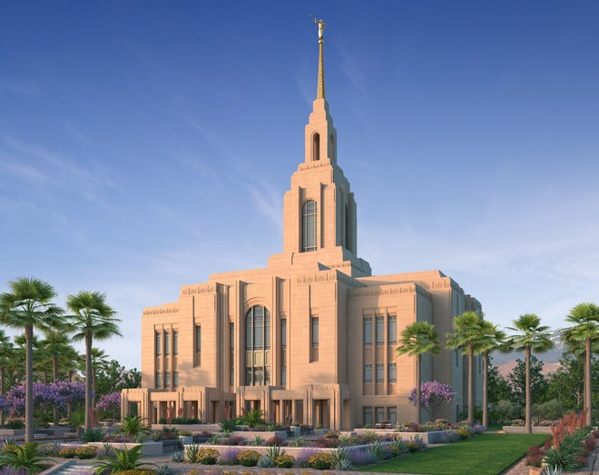 The Washington County Utah Temple will be re-named the Red Cliffs Utah Temple, theChurch of Jesus Christ of Latter-day Saints announced Tuesday on social media. This rendering shows what the temple will look like when it's completed.