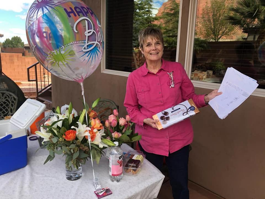 Ivins resident Patti Fairbourn celebrates her birthday at home on March 24 due to the COVID-19 coronavirus. Fairbourn turned 70 on March 25.