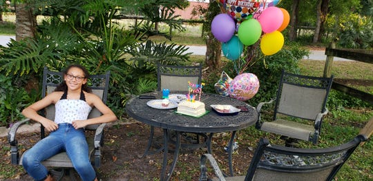 De'Lanie Willis, 12, of Palm City, on her birthday, April 4, 2020 in Martin County.