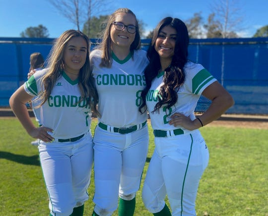 Oxnard College sophomores Katyln Acosta, Charlie Holman and Miranda Guerrero have the option to return to the Condor softball team next season in the wake of the coronavirus epidemic. The CCCAA has granted its spring student athletes an additional season of eligibility.