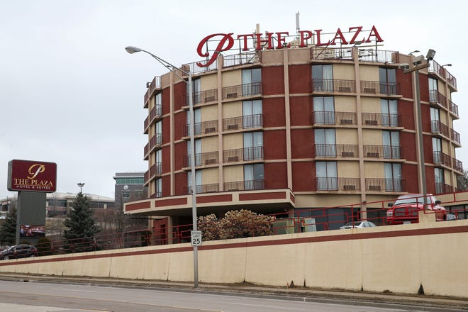 The Plaza Hotel on Wausau's west side at 201 N. 17th Ave. is shown on March 26, 2020. Local developers proposed a project to transform the hotel into a new Best Western hotel brand and a $17 million apartment complex on the next-door lot.