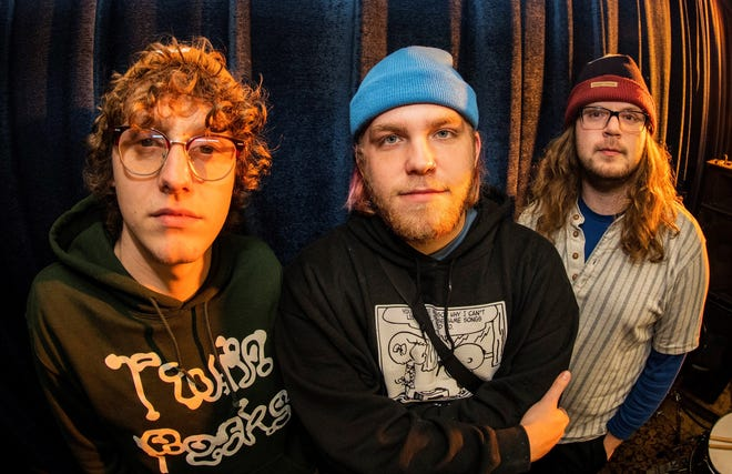 From left, Gorilla Band members are Carson Dunlap, Tyler Tompkins and Preston Frick. The altnerative/indie rock trio from Muskingum County has an EP set to release on April 17.